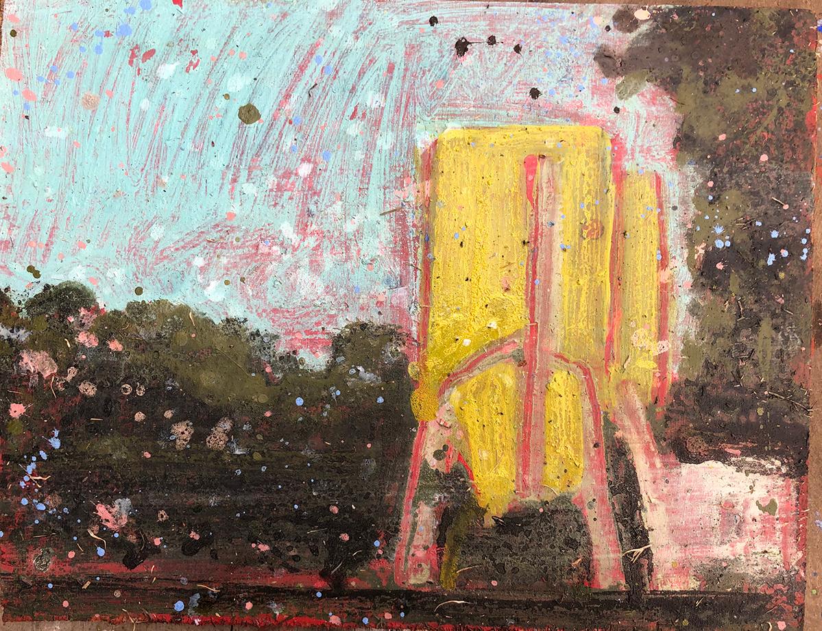 Charlotte de Maupeou - Silo : 550 € Huile et colle sur bois - 29 x 38 cm