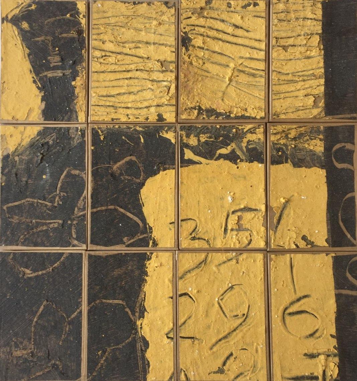 Michel Saint Lambert - Figure sans titre (Technique mixte sur papier marouflé sur bois - 28 x 30 cm) 450 €