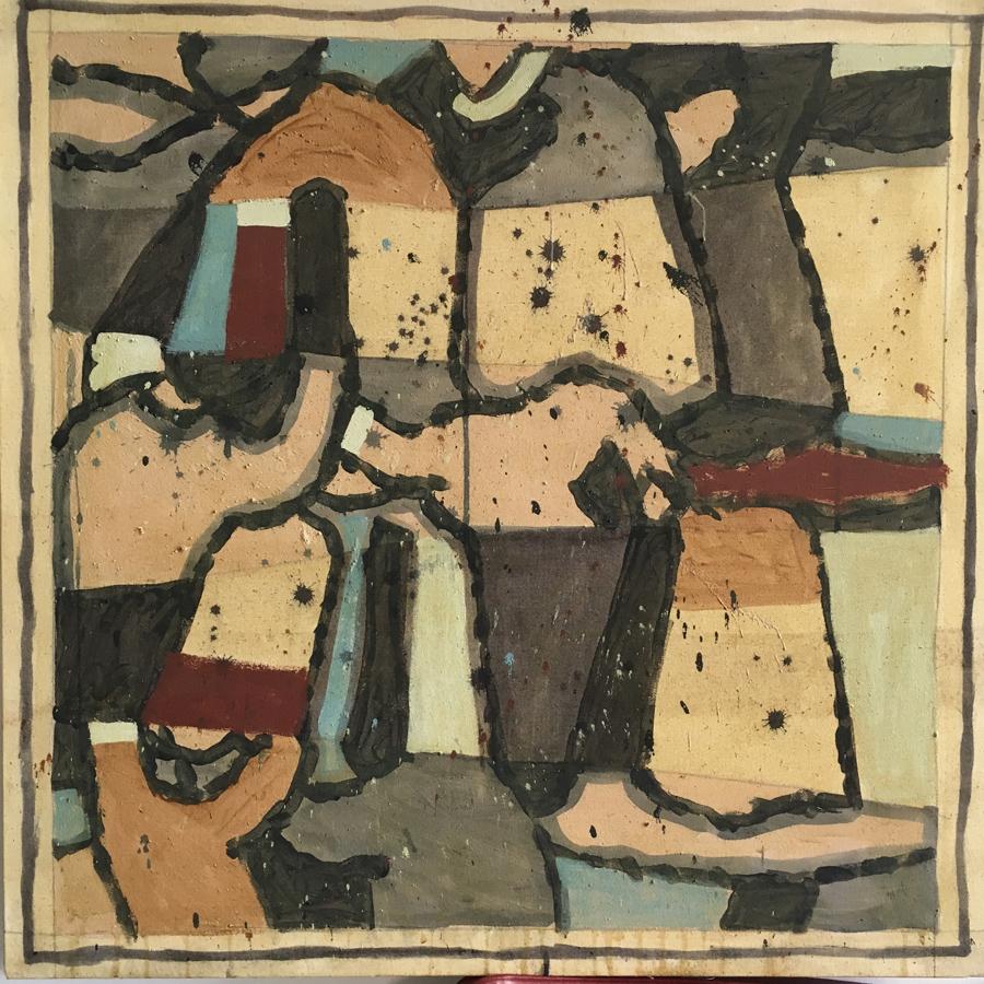 Philippe Berthommier - Reliés (Technique mixte sur toile - 80 x 80 cm) 2 000 €