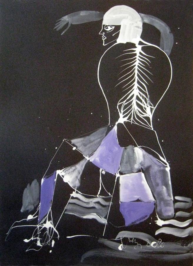 Raynald Driez - Movida (Encre sur papier - 40 x 30 cm) 800 €