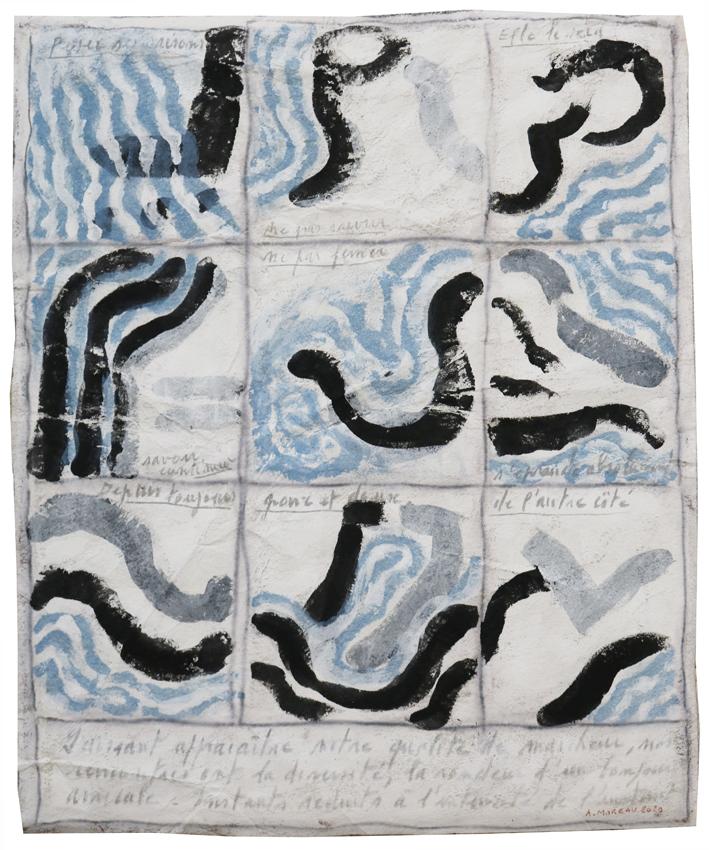 Anne Moreau - Poser ses raisons (Technique mixte sur toile - 65 x 53 cm) 1 500 €
