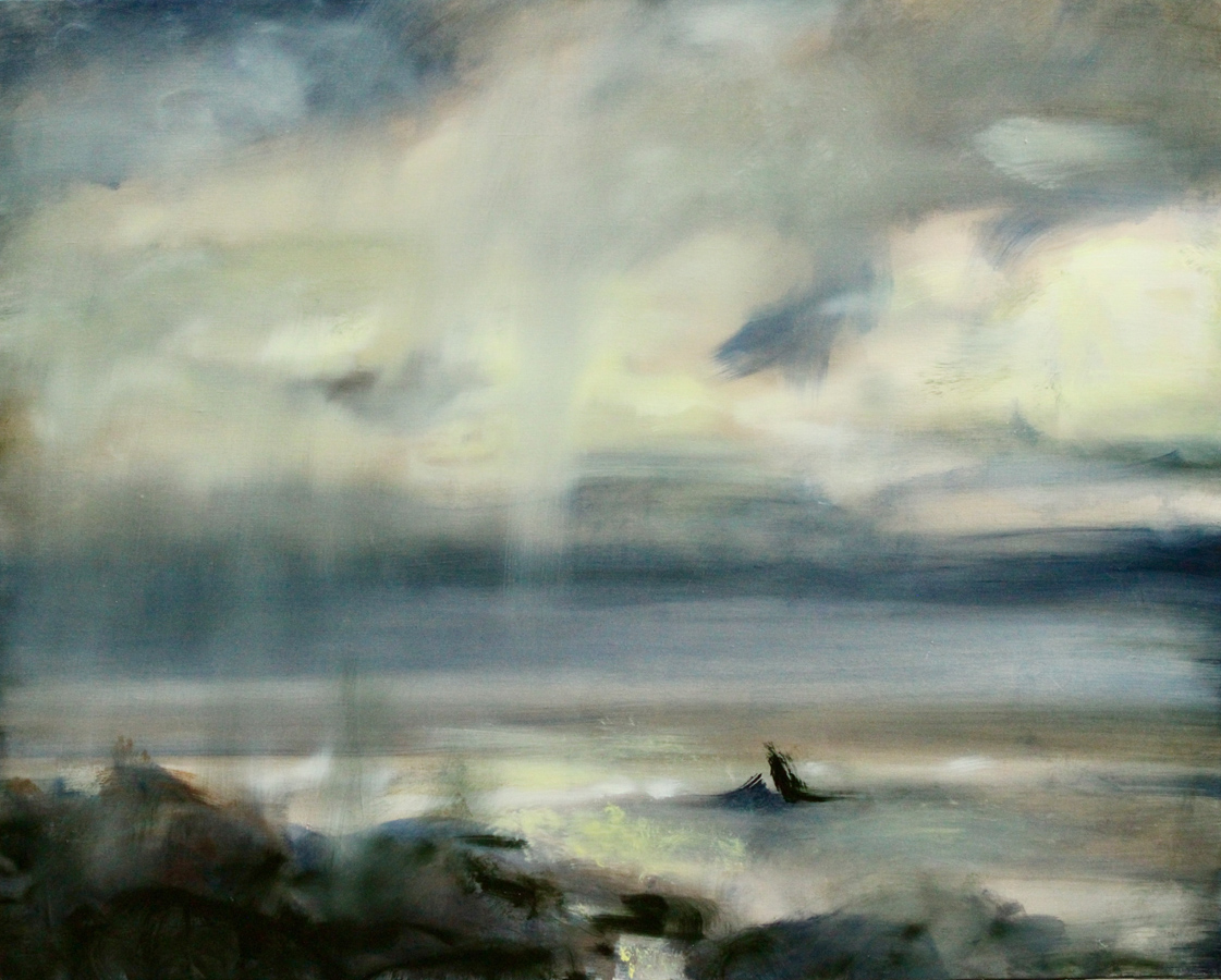 Jérôme Delépine - Bord de mer (Huile sur toile - 65 x 81 cm, en caisse américaine) 3 200 €