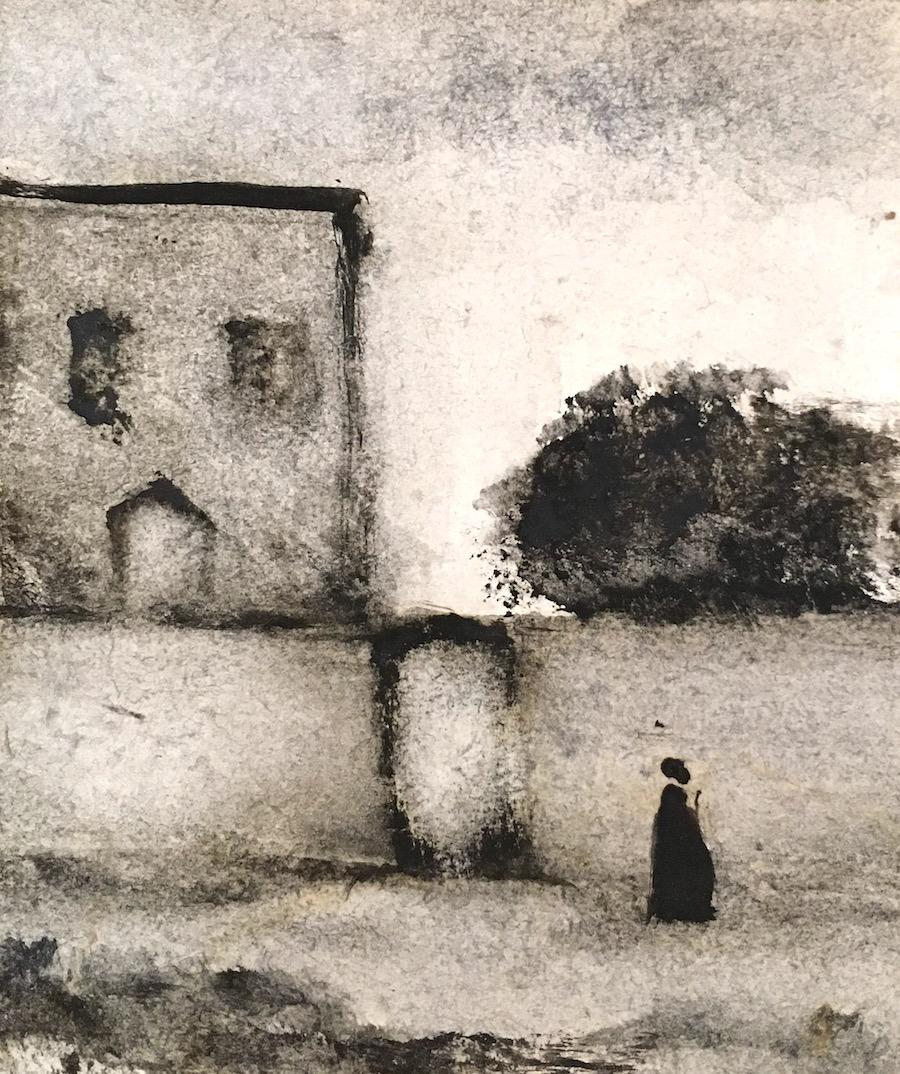 Joseph-Antoine d'Ornano - Villa (Aquarelle sur papier ancien - 21 x 17 cm, encadré sous verre) 350 €