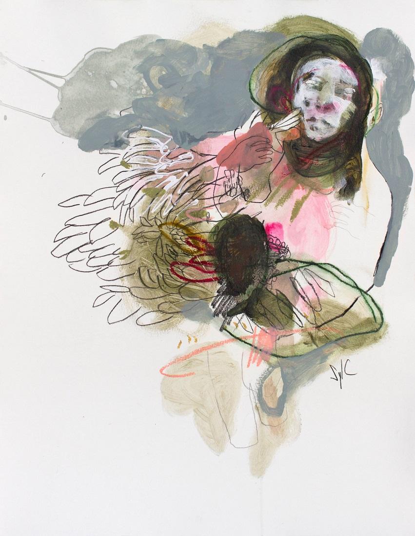 SylC - Passage (Acrylique, fusain et pastel sec sur papier - 65 x 50 cm) 1 200 €
